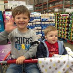 Camden and Chandler helping me shop at Costco.