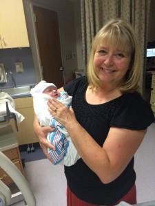 Holding baby McKenna!