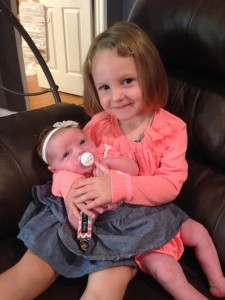 McKenna with big sister, Delanie